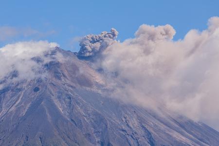 strombolian: Explosion Of Tungurahua Volcano Ecuador, South America
