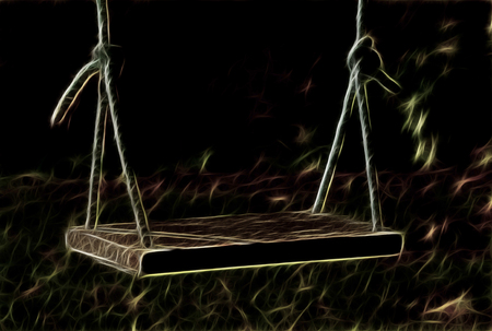 oscillate: Swing, Hanging Seat, Often Found At Playgrounds For Children, Illustration