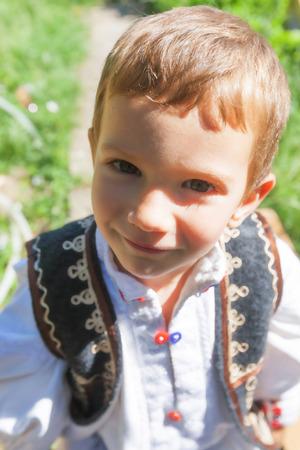 transylvania: Portrait Of Romanian Peasant Child Feeling Amused, Romania, Transylvania