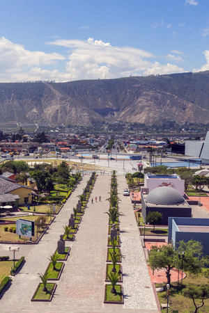 equator: City Mitad Del Mundo Is The Town Where The Equator Line Pass, Ecuador