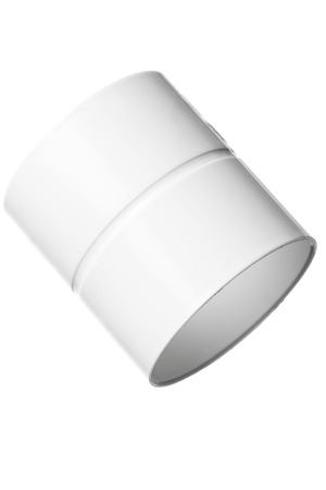 rigid: Isolated Pvc Pipe Coupler, Studio Shooting, White Background
