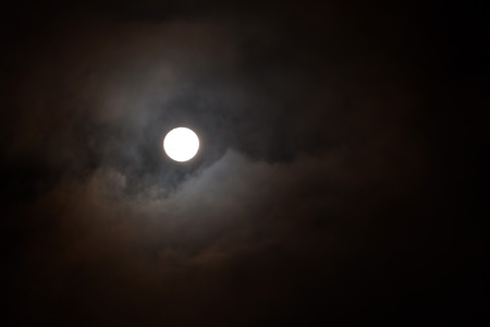 visible: Full Moon, The Phase Of The Moon In Which It Is Visible As A Fully Illuminated Disk Stock Photo