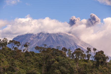 eruptive: Tungurahua Is An Active Strato Volcano, Located On The Eastern Edge Of The Andes Of Ecuador, South America
