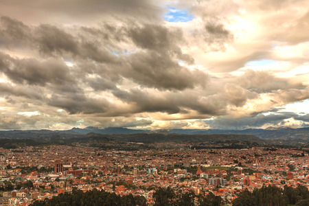 conquistador: Aerial View Of Cuenca City, Is The Capital Of The Azuay Province, South America