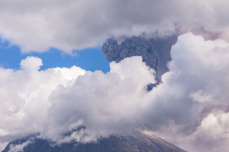 tungurahua: Tungurahua Is An Active Strato Volcano Located In The Cordillera Oriental Of Ecuador, South America