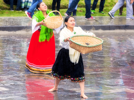 incomparable: Ingapirca, Ecuador - 20 June 2015: Unidentified Indigenous Women Celebrating Inti Raymi, The Eternal Consecration Of Marriage Between The Sun And His Sons In Ingapirca On June 20, 2015