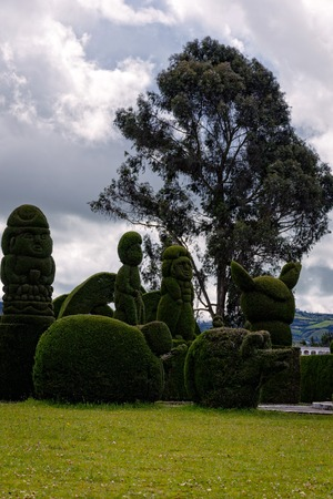The Cemetery Of Tulcan, Called The Green Sculpture Is A Structure Without Precedents In The World