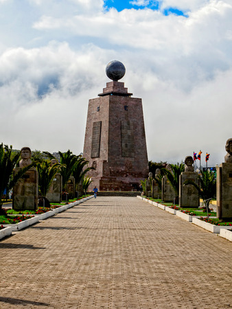 Giant Monument Of Center Of The World, Mitad Del Mundo, South America Editorial