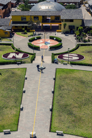 equator: Mitad Del Mundo Village Is The Town Where The Equator Line Crosses, South America Editorial