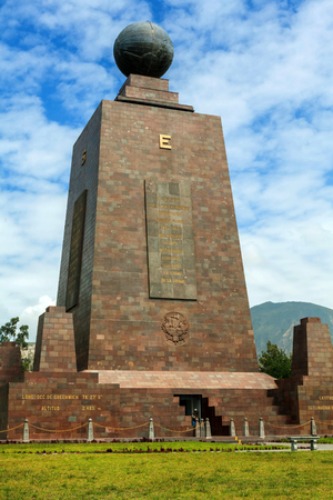Mitad Del Mundo Monument In Ecuador, South America