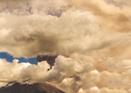 erupt: Tungurahua Volcano, Choking Explosion, Ecuador, South America