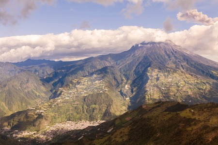 tungurahua: Tungurahua Volcano Devastating Explosion, Ecuador, South America Stock Photo