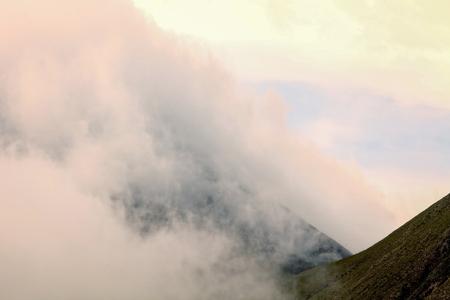 strombolian: Tungurahua Volcano Eruption At Sunset, Ecuador, South America