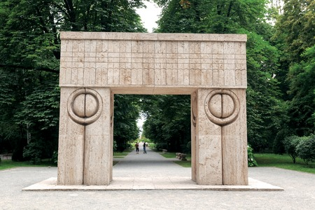 constantin: The Gate Of The Kiss Is One Of The Most Important Works Of Sculptor Constantin Brancusi, Romania