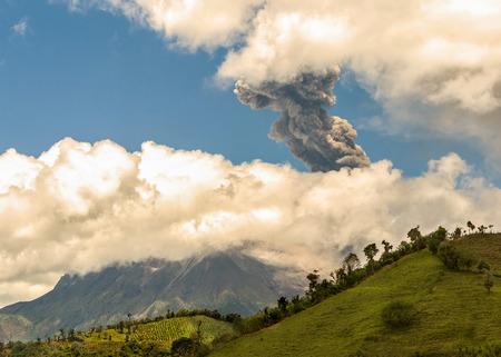eruptive: Daytime Explosion Of Tungurahua, Ecuador, South America Stock Photo