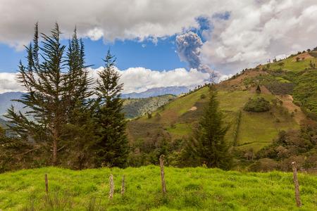strombolian: Tungurahua Volcano Has A Complex Historical Record Which Includes Sudden, Violent Eruptions, South America Stock Photo