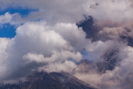 strombolian: Tungurahua Volcano Intermittent Ash Emissions, South America