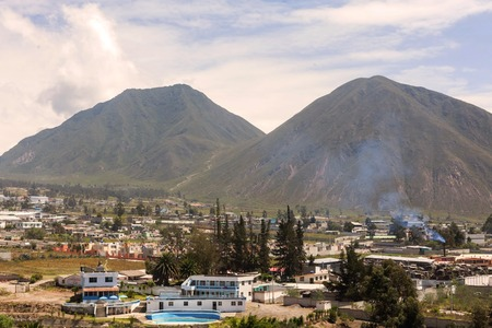 cordillera: Village Mitad Del Mundo Located At The Foothills Of The Andes, South America