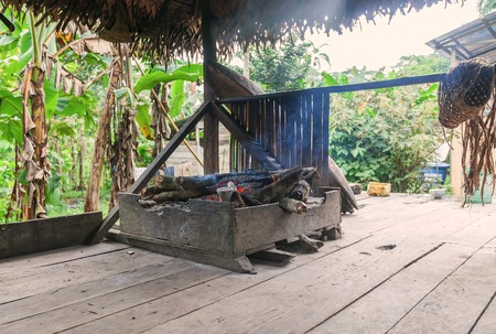 indigenous: Traditional Indigenous Kitchen, Cuyabeno Reserve, South America