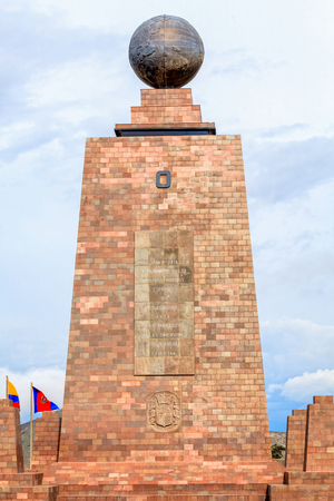 Monument Marks The Point Through Which The Equator Passes And Was Built To Commemorate The First Geodesic Mission Of The French Academy Of Sciences, Ecuador