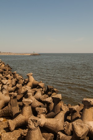 marginal: View Of The Black Sea Coast In The Summer, Romania, East Europe Stock Photo