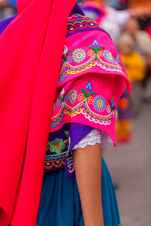 Traditional Folk Clothing And Embroidery From Ecuador