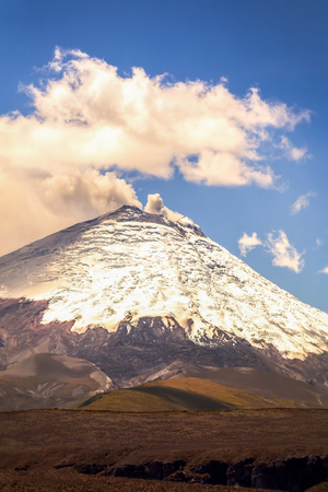 volcano slope: Bursts Of Ash And Gas From Ecuador Cotopaxi Volcano, South America
