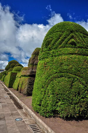 Tulcan Is The Capital Of The Province Of Carchi Is Just 7 Km From The Colombian Border, Ecuador, South America Is Known For Three Acre Topiary Garden Cemetery Stock Photo