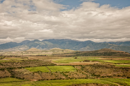 cultivated land: Cultivated Land In The Foothills Of The Andean Mountains, Ecuador, South America