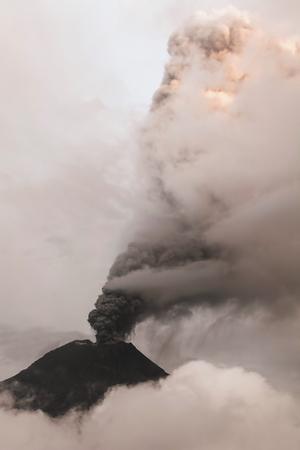 fumarole: Fumarole At Tungurahua Volcano Crater, Ecuador Stock Photo