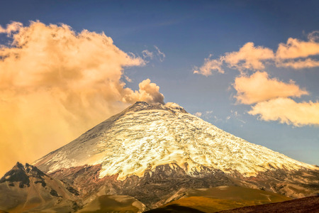 Eruption Of Ash Clouds From Cotopaxi Volcano, Ecuador, South America