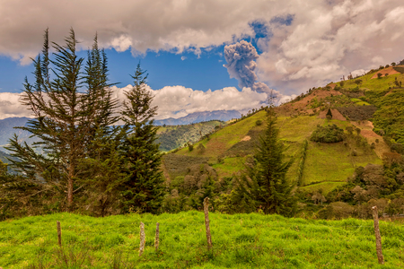 tungurahua: Tungurahua Volcano Has A Complex Historical Record Which Includes Sudden, Violent Eruptions, South America Stock Photo