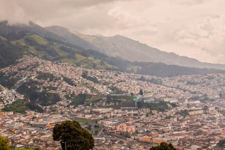 south  america: Aerial View Of Quito, Ecuador, South America