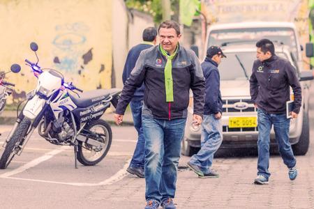 congressman: Banos De Agua Santa, Ecuador - 23 June, 2016: Mayor Of Banos De Agua Santa, Marlon Guevara, Seen At Center Of The Town, Ecuador, South America Editorial