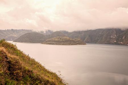 Cuicocha Crater Lake, Ecological Reserve Cotacachi-Cayapas, Ecuador, South America  Stock Photo