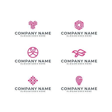 Logo design bundle inspiration Stock Vector - 140408890
