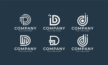 Monogram logo designs that contain 6 kind of monogram logo that make shape of letter s that can be used everywhere Illustration