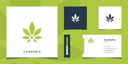 Inspirational logo and business card design completed with green colors