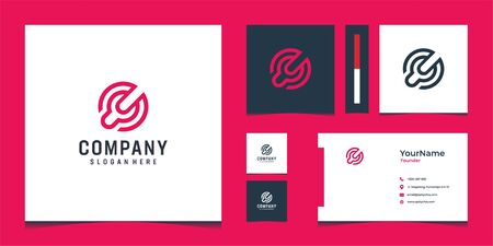 Here we go with fresh modern logo and business card design that suit to be placed everywhere Ilustração