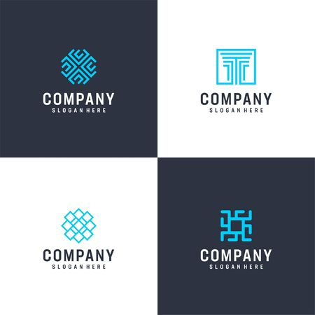 Here we go with fresh modern logo design bundle that contain 4 logo design that suit to be placed everywhere