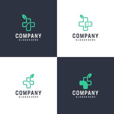 Modern inspirational logo design in line art concept that contain 4 modern medical design Stock Vector - 140410575