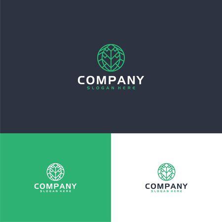 Here we go with new leaf logo design in modern shape Illustration