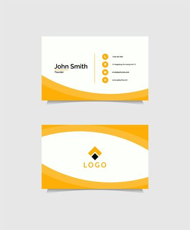 Inspirational business card design concept that suit to be placed everwyhere Illustration