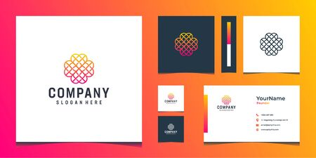 Inspirational abstract  and business card design that can be placed everywhere