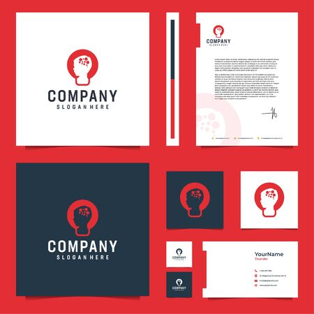 Modern elegant brand design that contain till letterhead design