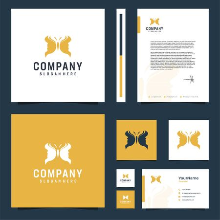 Modern elegant brand design that contain  till letterhead design Illustration