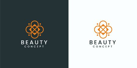 Inspirational logo design that bring feminine and suit to be placed everywhere Stock Vector - 143398260