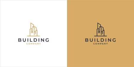 Real estate logo design in modern style