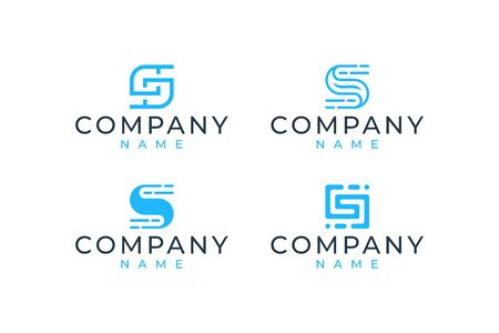 S logo design that suit to be placed everywhere Stock Vector - 143398263