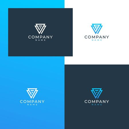 Inspirational V logo design concept Illustration